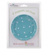 Magnetic Pin Bowl - Polka Dot Aqua