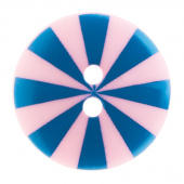 "Kaffe Fassett Button - 5/8"" Blue & Pink Radiate"