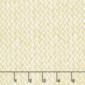 Zephyr - Knit Weave Ivory Metallic Yardage