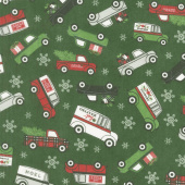 Designer Flannel - Christmas Main Green Yardage