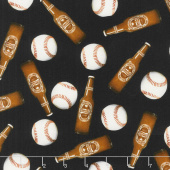 One of a Kind - Food & Drink 7th Inning Stretch Multi Digitally Printed Yardage