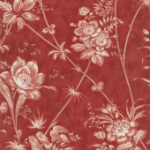 Holly Woods - Floral Toile Berry Yardage