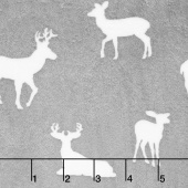 "Cuddle Prints - Deer To Me Graphite 60"" Minky Yardage"