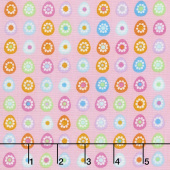 Some Bunny Loves You - Little Eggs Pink Yardage