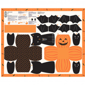 Ghouls and Goodies - Halloween Cut and Sew Trick or Treat Bag Panel