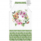Orchids in Bloom - Apron White Multi Canvas Panel