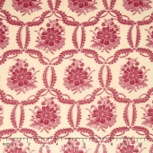 Ville Fleurie - Honfleur Faded Red Yardage
