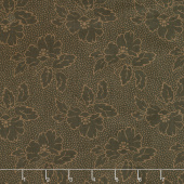 Sequoia - Silhouette Floral Black Bear Yardage
