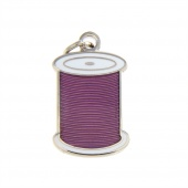 Spool Charm Purple by Pin Peddlers