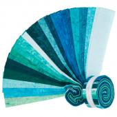 "Lava Batik Solids - Lagoon 2.5"" Strips"