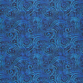 "Wilmington Essentials - Ebb and Flow Dark Blue 108"" Wide Backing"