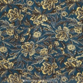 Collection for a Cause - Mill Book - 1889 Floral Flourish Country Blue Yardage