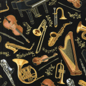 Novelty - Instruments Black Yardage
