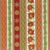 Holiday Flourish 11 - Holiday Stripes Holiday Metallic Yardage