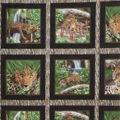 On the Wild Side - Leopard Blocks Brown Yardage
