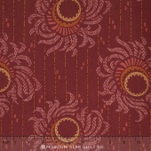 Downton Abbey - The Lord and Lady Collection Red Wallpaper Yardage