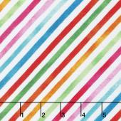 Sweet Treats - Stripe Rainbow Multi Yardage