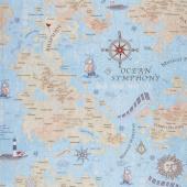 Row by Row - Music Map Sea Yardage