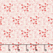 Sweet Sixteen - Line Leaf Red Yardage