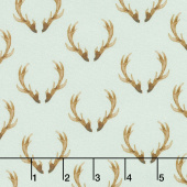 Winter Woods - Antlers in Gray Yardage