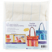 Sophie Tote Bag Quilt As You Go Preprinted Batting