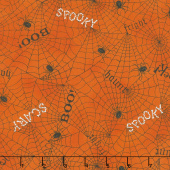 Bewitching - Webs & Words Pumpkin Yardage