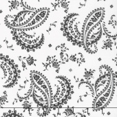 Greenery - Paisley Black Yardage
