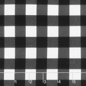Christmas Traditions - Plaid Black Yardage