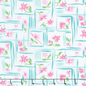 Flower Sacks - Flower Boxes Pink Yardage