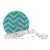 Mint Chevron Tape Measure