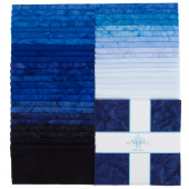 "Lava Batik Solids - Twilight 10"" Squares"