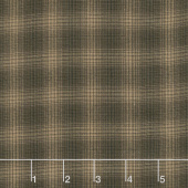 Itty Bitty - Small Plaid Black Yarn Dye Yardage