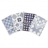 Blue & White Pocket Notepad