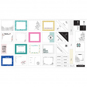 Quilt Label Panel - Quilt Labels White Multi Panel