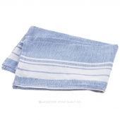 Tea Towel - Stripe Border Blue/White