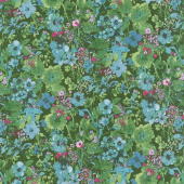 Bloom Bloom Butterfly - Moonlit Blooms Forest Yardage