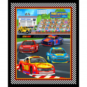 Start Your Engines - Race Track Banner Black Panel