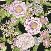 Avery Hill - Blossom Flowers Lavender Metallic Yardage