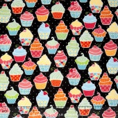 Kitchen Love - Made with Love Black/Multi Yardage