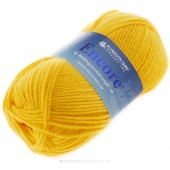 Encore Worsted Bright Yellow Yarn 100g