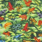 Animals - Tree Frogs Green Yardage