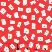 Love Letters - Envelopes Red Yardage