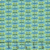 Mirage - Loop Stripe Angel Blue Yardage