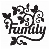 Family Silhouette Fusible Appliqué Shape