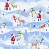 Santa's Little Helpers - Santa's Little Helpers Blue Yardage