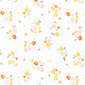 Kenzie - Baby Bouquets White Yardage