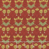 May Morris Studio - Tulip 1900 Crimson Yardage
