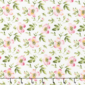 Wild Rose - Open Roses Winter White Flannel Yardage