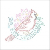 Birds of Liberty - West Virginia Digitally Printed Panel