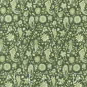 Garden Delights III - Paisley Green Yardage